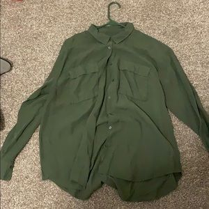 Jackets & Blazers - Army green long sleeve button up